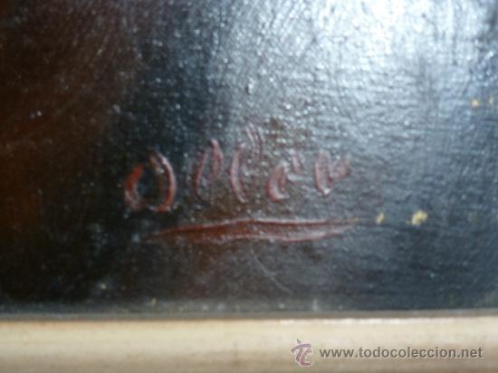 Arte: pintura al oleo señor con barba y pipa firmado oller - Foto 11 - 32475840
