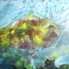 Kunst - TORO, PINTURA OLEO Y ESMALTE SOBRE TABLA, FIRMA FABIAN GALDAMEZ, AÑOS 50-60 - 32617361