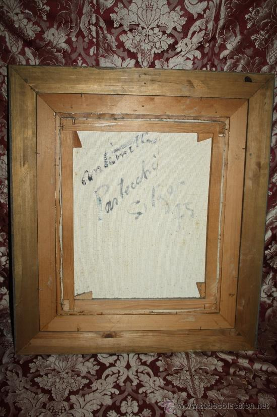 Arte: B1-005. O/L REPRESENTANDO BODEGÓN DE FLORES FIRMADO ANTOINETTE PASTECCHI EN SITGES AÑO 75 - Foto 5 - 32637163