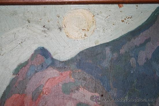 Arte: A2-064 O/T - FIRMADO GUILLEM PALAU DEDICADO A PERE ELIAS I BUSQUETA TEMA COSTERO 1949 - Foto 4 - 32657739