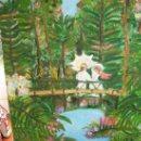 Arte: OLEO SOBRE LIENZO DAMAS EN EL PUENTE MARIA TERESA VILLODRES. Lote 32984193