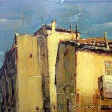 Arte: OLEO A ESPATULILLA, FRANCISCO MIR BELENGUER, VALENCIA, BARRIO VELLUTERS, 1962, TABLA DE 27 X 16 CM. Lote 33237384