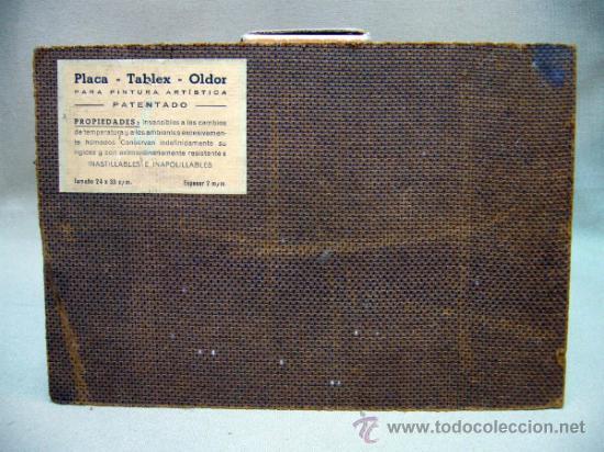 Arte: OLEO A ESPATULILLA, FRANCISCO MIR BELENGUER, VALENCIA, BARRIO VELLUTERS, 1962, TABLA DE 27 X 16 CM - Foto 7 - 33237384