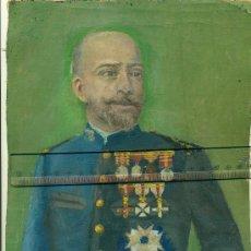 Arte: PINTURA AL ÓLEO EN TELA DE UN MILITAR. TENIENTE CORONEL DE INFANTERÍA. HACIA 1895.. Lote 33226595
