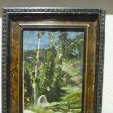 Arte: PAISAJE DE FRANCESC GUINART I CANDELICH (1888-1974). FIRMADO Y FECHADO EN 1909.. Lote 33304517