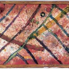 Arte: FONDO ABISAL.JOSÉ ÁNGEL SALINAS ÁLVAREZ ( TUDELA 1958 ).TÉCNICA MIXTA / TABLA.60 X 86 CMTRS.2001.. Lote 33330944