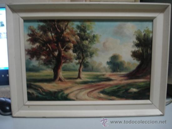 BONITO CUADRO OLEO SOBRE TELA FIRMADO SANZ (Arte - Pintura - Pintura al Óleo Moderna sin fecha definida)