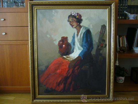 Oleo sobre lienzo del pintor valenciano conrado comprar - Pintor valenciano ...