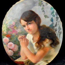 Arte: PAUL ALEXANDRE A. LEROY (1860-1942) OLEO SOBRE TELA. RETRATO FEMENINO. CIRCA 1910. Lote 33508391