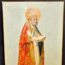 Arte: JOSÉ MIRABENT GATELL (BARCELONA, 1831 – 1899) OLEO SOBRE TELA. OBISPO O SANTO. Lote 33723578