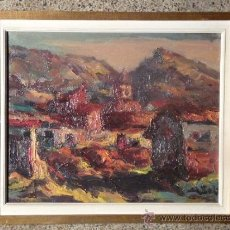 Arte: OLEO SOBRE TELA.ANTONI SOLA BORRELL(SALLENT 1903)RESIDENTE EN TERRASSA. PASTA,SEGURIDAD Y VALENTIA . Lote 33784533