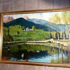 Arte: OLEO SOBRE TELA, DE GRAN DIMENSIÓN, DE ATAÜLF AGUILÓ TOSCA (BARCELONA 1912).. Lote 33790801