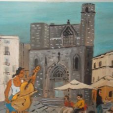Arte: BARCELONA MÚSICO EN SANT JUST DE CRESPO . Lote 33798657