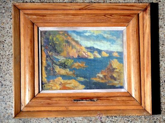 MAGNIFICO ÓLEO SOBRE TABLEX DE ESTANISLAO VILAJOSANA. (MANRESA 1913-1991) (Arte - Pintura - Pintura al Óleo Contemporánea )