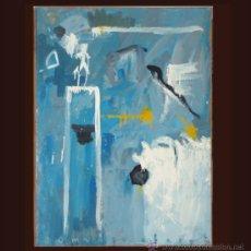 Arte: DOMINGO CORREA. MIXTA / LIENZO. 'JUECES DE LINEA'. EXPRESIONISMO ABSTRACTO. 1994.. Lote 33813000