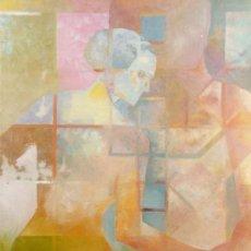 Arte: DOMINGO CORREA. 'ZEUS Y DAN UP' ÓLEO. FIGURATIVA. FIGURACION. VANGUARDIA.. Lote 33836834