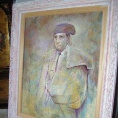 Arte: DOMINGO CORREA. RETRATO DEL TORERO 'ANTONIO CHENEL, ANTOÑETE'. OLEO LIENZO. MATADOR DE TOROS.. Lote 33825367