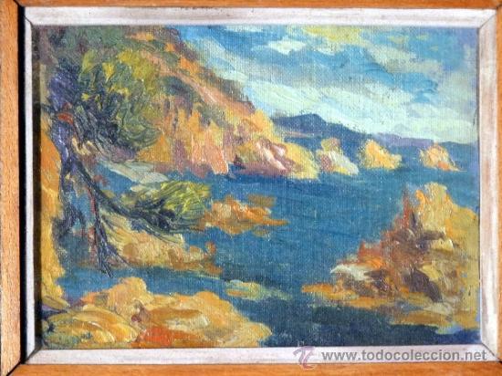 Arte: magnifico óleo sobre tablex de Estanislao Vilajosana. (Manresa 1913-1991) - Foto 2 - 33812989