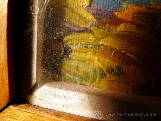 Arte: magnifico óleo sobre tablex de Estanislao Vilajosana. (Manresa 1913-1991) - Foto 5 - 33812989