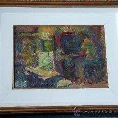 Arte: ÓLEO SOBRE TABLA, FIRMA ILEGIBLE.TRAZO IMPRESIONISTA CON MUCHA PASTA.ENMARCADO EN GRUP S.A. Lote 33910244