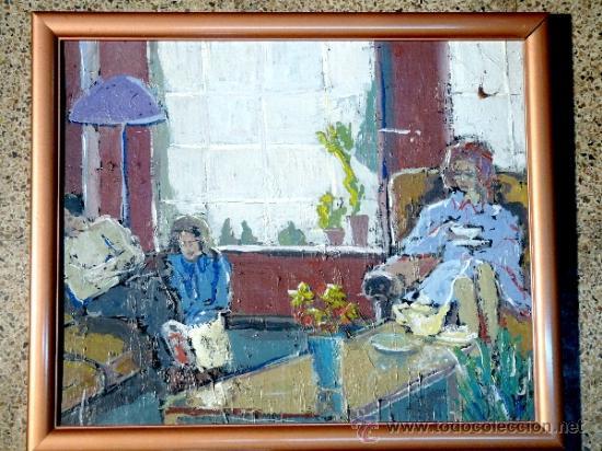 OLEO SOBRE TABLA.TRAZO CON FIRMEZA Y SEGURIDAD.ANÓNIMO (Arte - Pintura - Pintura al Óleo Contemporánea )