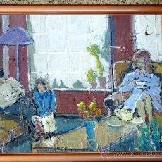 Arte: OLEO SOBRE TABLA.TRAZO CON FIRMEZA Y SEGURIDAD.ANÓNIMO. Lote 33910380