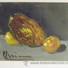 Arte: OLEO MINIATURA SOBRE CARTÓN FIRMADO . Lote 33969697