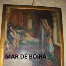 Arte: MYRRH ALOES AND CASSIA - JOHN COLLIER FINES XIX - PEQUEÑO TRABAJO PREVIO ÓLEO A GRAN OBRA FINAL. Lote 32403738