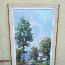 Arte: OLEO / TABLEX - FIRMADO SELLÉS - PAISAJE. Lote 34039151