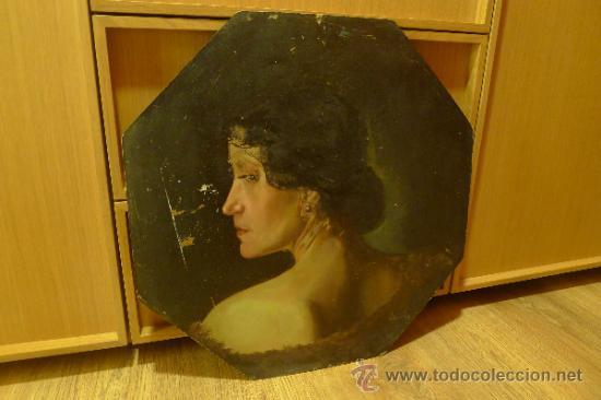 Arte: Bonita pintura de estilo Art nouveau sobre carton Firmada por Leo Leux y datada en 1924 Alemania - Foto 3 - 34070855