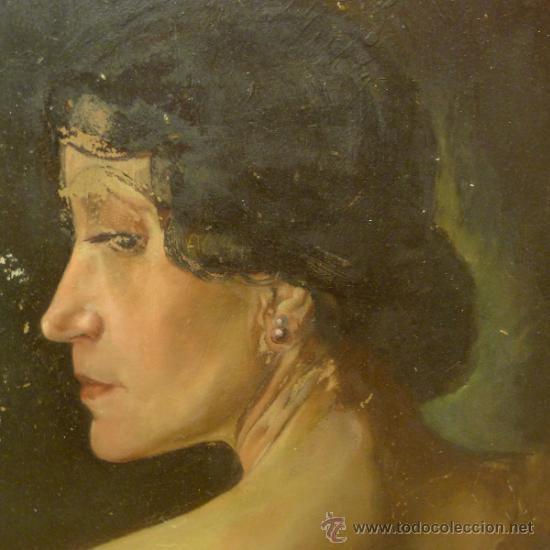 Arte: Bonita pintura de estilo Art nouveau sobre carton Firmada por Leo Leux y datada en 1924 Alemania - Foto 2 - 34070855