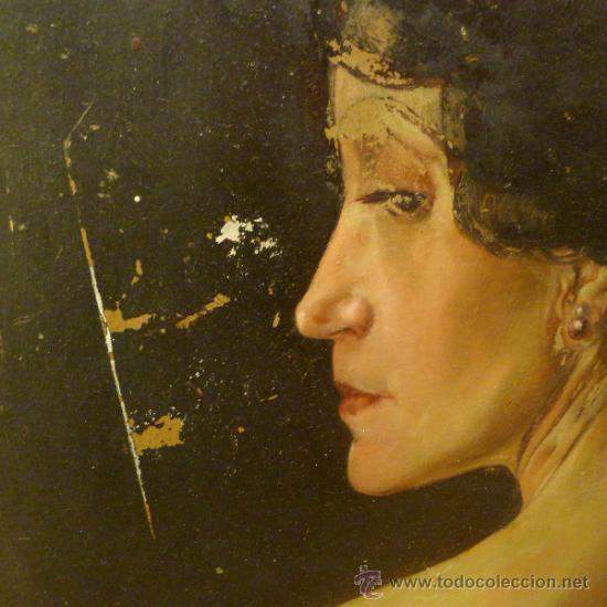 Arte: Bonita pintura de estilo Art nouveau sobre carton Firmada por Leo Leux y datada en 1924 Alemania - Foto 4 - 34070855