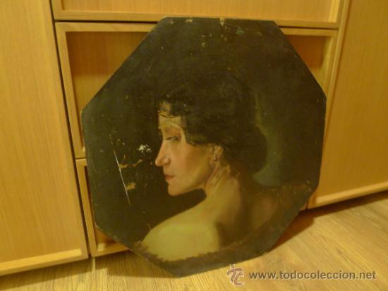 Arte: Bonita pintura de estilo Art nouveau sobre carton Firmada por Leo Leux y datada en 1924 Alemania - Foto 5 - 34070855