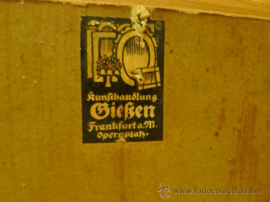 Arte: Bonita pintura de estilo Art nouveau sobre carton Firmada por Leo Leux y datada en 1924 Alemania - Foto 7 - 34070855