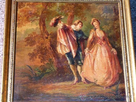 Arte: Magnífica escuela romántica S.XIX.Reentelado,pegado a táblex y enmarcado en . - Foto 2 - 34117057