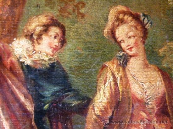 Arte: Magnífica escuela romántica S.XIX.Reentelado,pegado a táblex y enmarcado en . - Foto 3 - 34117057