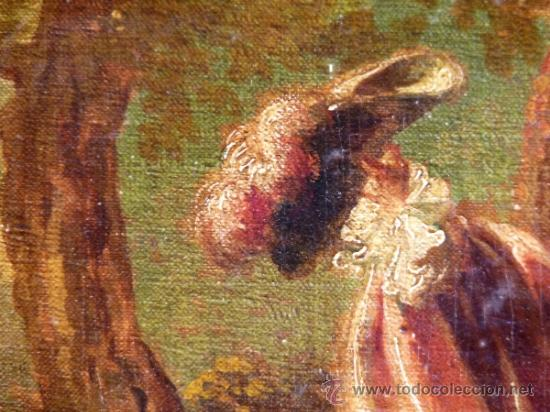 Arte: Magnífica escuela romántica S.XIX.Reentelado,pegado a táblex y enmarcado en . - Foto 5 - 34117057