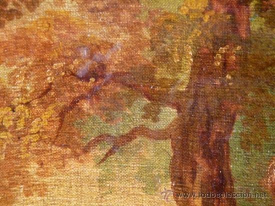 Arte: Magnífica escuela romántica S.XIX.Reentelado,pegado a táblex y enmarcado en . - Foto 6 - 34117057