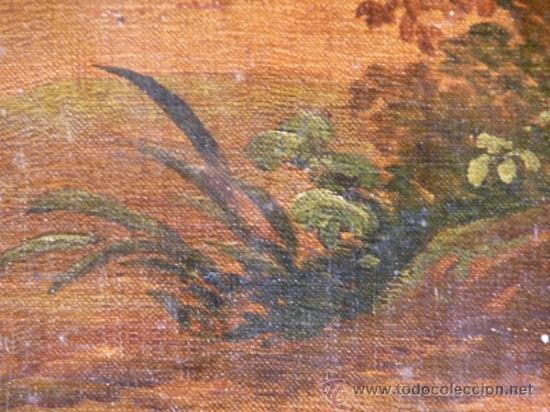 Arte: Magnífica escuela romántica S.XIX.Reentelado,pegado a táblex y enmarcado en . - Foto 7 - 34117057