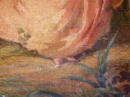 Arte: Magnífica escuela romántica S.XIX.Reentelado,pegado a táblex y enmarcado en . - Foto 8 - 34117057