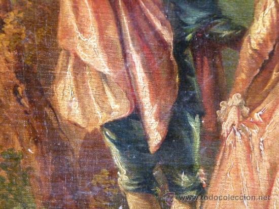 Arte: Magnífica escuela romántica S.XIX.Reentelado,pegado a táblex y enmarcado en . - Foto 9 - 34117057