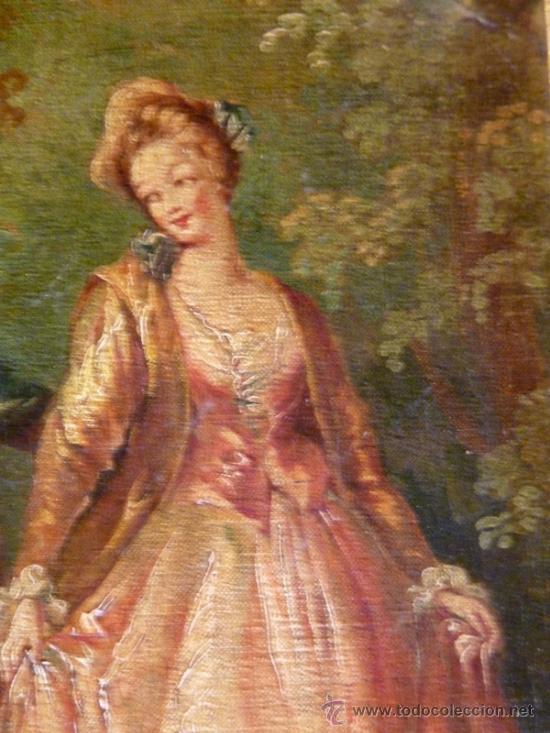 Arte: Magnífica escuela romántica S.XIX.Reentelado,pegado a táblex y enmarcado en . - Foto 10 - 34117057
