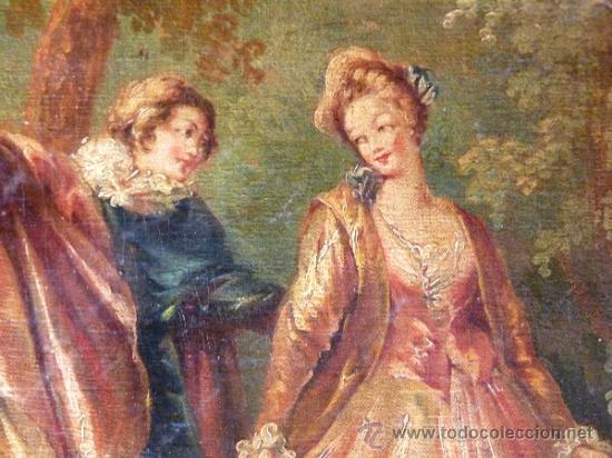 Arte: Magnífica escuela romántica S.XIX.Reentelado,pegado a táblex y enmarcado en . - Foto 11 - 34117057