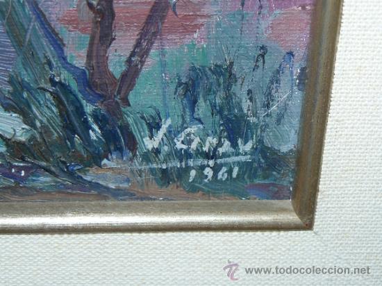 Arte: OLEO / TELA - FIRMADO J. GRAU - 1941 - PAISAJE RURAL CON CASA - Foto 6 - 34096239