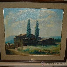 Arte: OLEO / TELA -FIRMADO OLLER - 1982 - MAS DE CAN PADRÓ. Lote 34127898