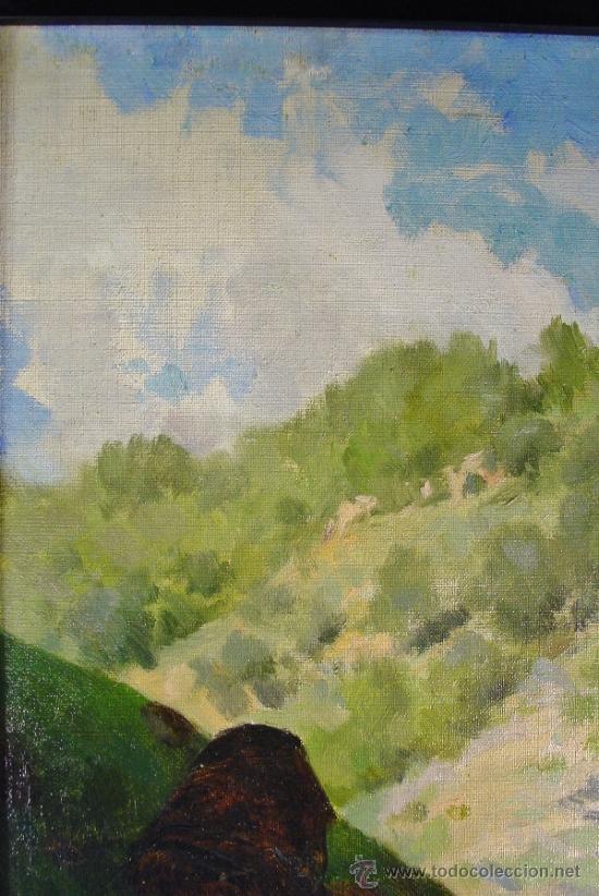 Arte: PAISAJE. OLEO/LIENZO. JOSEP BERGA I BOIX (1837-1914). - Foto 2 - 34195091