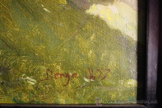 Arte: PAISAJE. OLEO/LIENZO. JOSEP BERGA I BOIX (1837-1914). - Foto 5 - 34195091