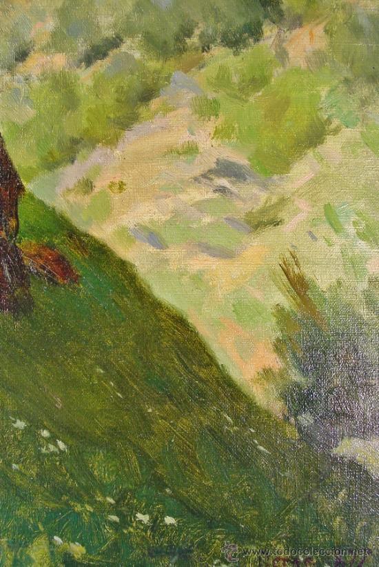 Arte: PAISAJE. OLEO/LIENZO. JOSEP BERGA I BOIX (1837-1914). - Foto 6 - 34195091