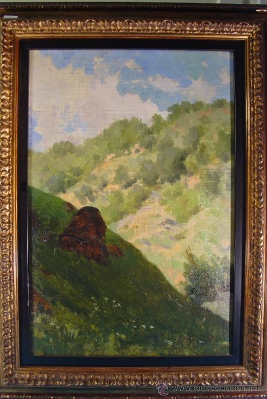 PAISAJE. OLEO/LIENZO. JOSEP BERGA I BOIX (1837-1914). (Arte - Pintura - Pintura al Óleo Moderna siglo XIX)