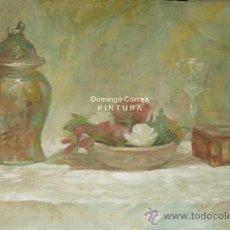 Arte: ÓLEO SOBRE LIENZO /// 81 X 54 CM /// 'LA CAJITA DE CHINA'. DOMINGO CORREA.. Lote 29665295